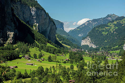 Lauterbrunnen Mountain Valley - Swiss Alps - Switzerland by Gary Whitton