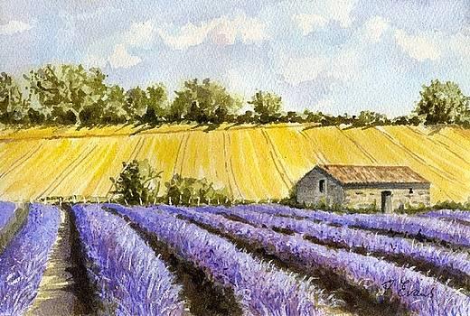 Lavender and Gold by Frances Evans