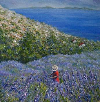 Lavender in Full  Bloom by Mirjana Gotovac
