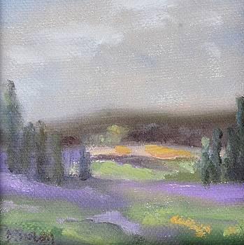 Lavender Landscape by Donna Tuten