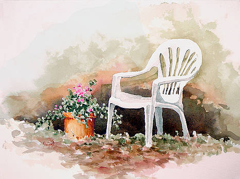 Lawn Chair with Flowers by Sam Sidders
