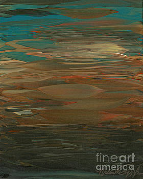 Layered Teal Sunset by Nadine Rippelmeyer
