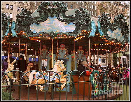 Le Carrousel in Bryant Park, New York City by Dora Sofia Caputo Photographic Art and Design