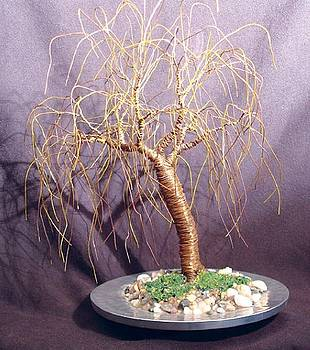 LEANING WILLOW wire tree sculpture by Sal Villano