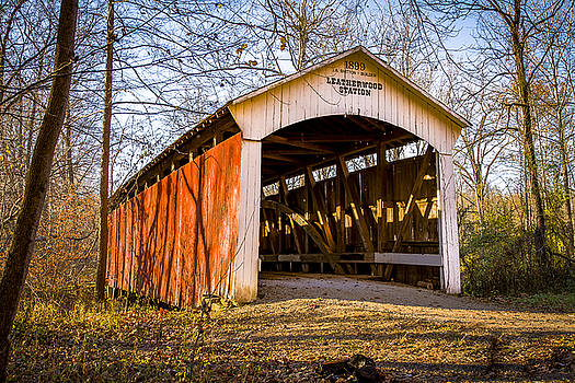 Jack R Perry - Leatherwood Station covered bridge