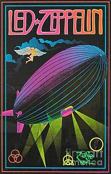 Led Zeppelin Sixties Blacklight Poster by Pd