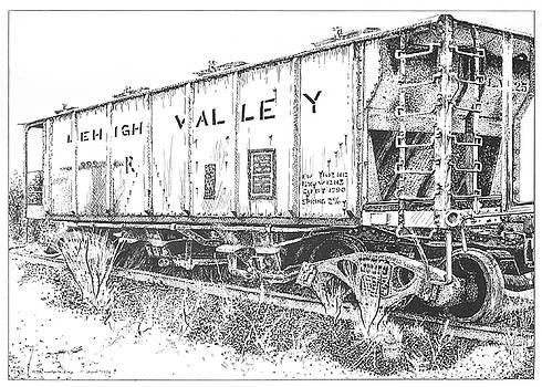 Lehigh Valley Coal Car by Peter Muzyka