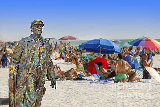 Lenin goes to the Beach  by Larry Mulvehill