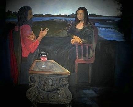 Leonardo talking to Mona by Jack Bauer