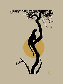 Leopard in the tree by Robert Breton