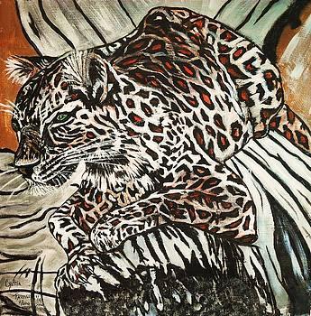 Leopard first of four by Cynthia Farmer