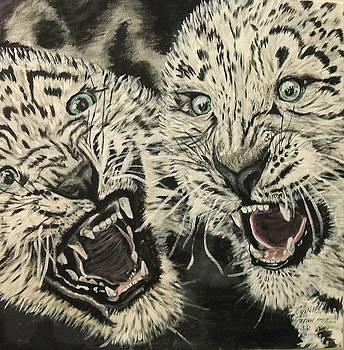 Leopards third of four by Cynthia Farmer