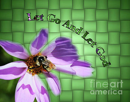 Let Go Inspirational Bee On Flower by Smilin Eyes  Treasures