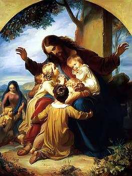 Let the Children Come to Me by Carl Vogel von Vogelstein