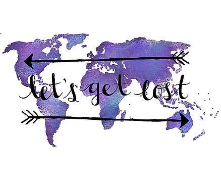 Let's Get Lost purple by Michelle Eshleman
