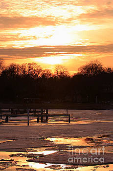 Lexington Harbor Sunset by Kathy DesJardins