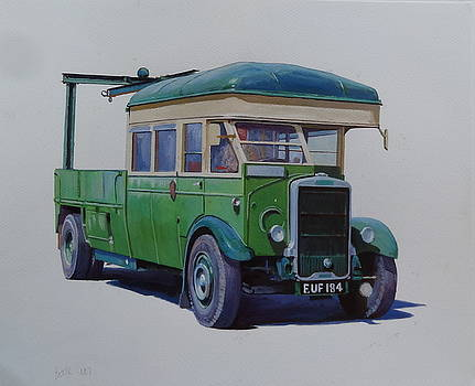 Leyland Southdown wrecker. by Mike Jeffries