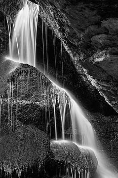 Lichtenhain Waterfall - bw version by Andreas Levi