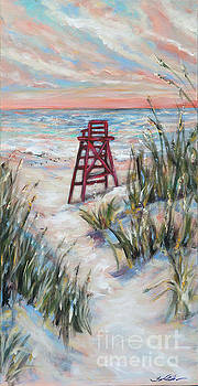 Lifeguard Chair and Dunes by Linda Olsen