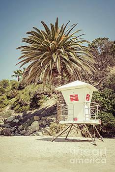Paul Velgos - Lifeguard Tower Laguna Beach Retro Picture