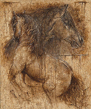 Lifting my spirit- spirit of life by Paula Collewijn -  The Art of Horses