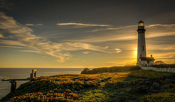 Light Behind The Lighthouse by Dan Girard