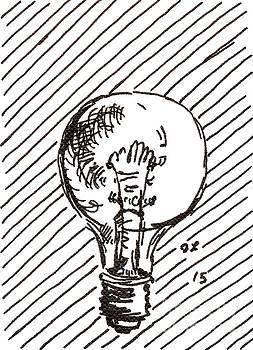 Light Bulb 1 2015 - ACEO by Joseph A Langley