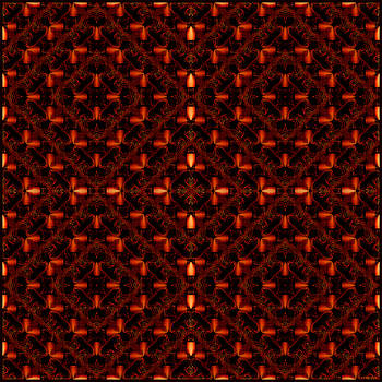 Light in a Pattern-Red Squares by Gillian Owen