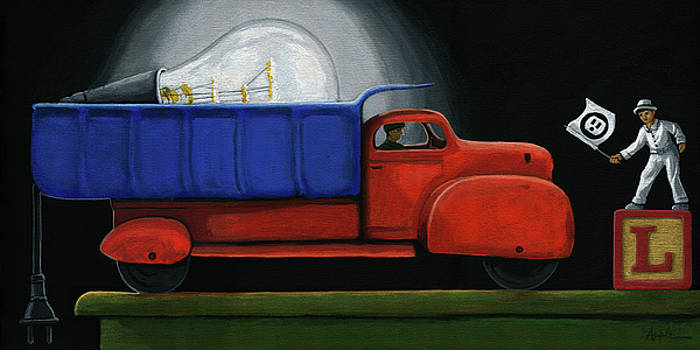 Light Load - narrative painting by Linda Apple
