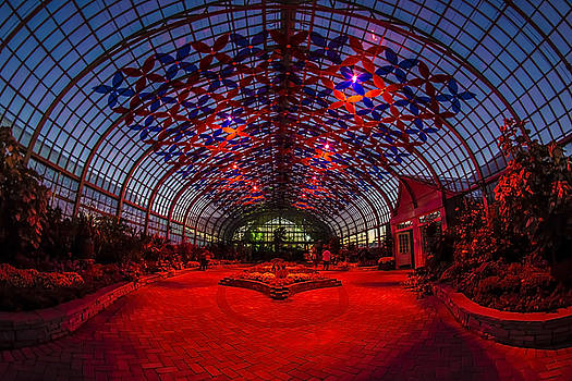 Light Show At The Conservatory by Sven Brogren