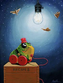 Light Snacks original whimsical still life by Linda Apple