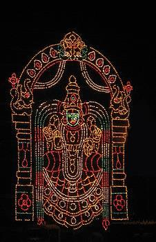 Lighted Durga by Umesh U V