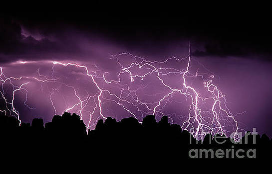 Lightening Storm Over The Needles  by Tracy Knauer