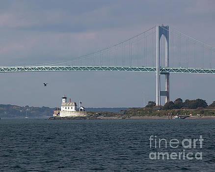 Lighthouse and Bridge 2 by Cheryl Del Toro