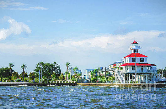 Lighthouse and Lakefront - New Orleans by Kathleen K Parker