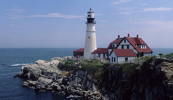 Lighthouse at Portland in Maine by Carl Purcell