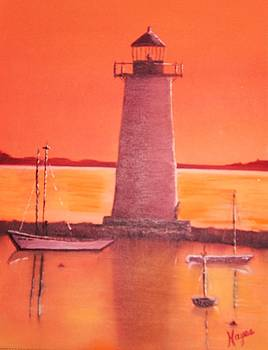 Lighthouse by Barbara Hayes