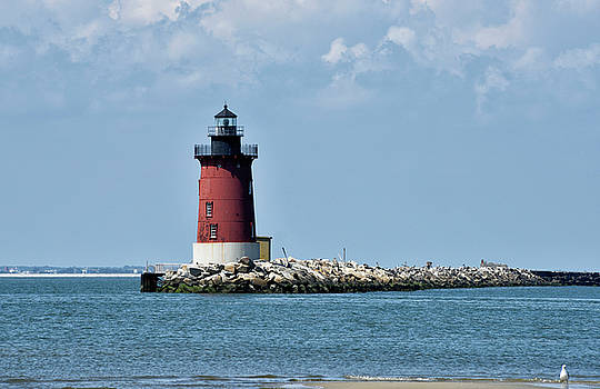 Delaware Breakwater East End Lighthouse - Lewes Delaware by Brendan Reals