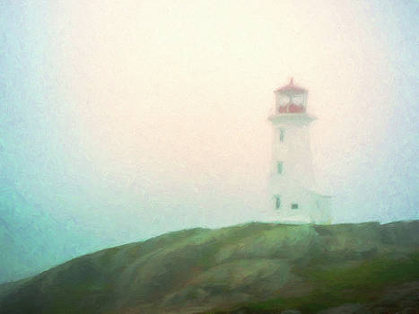Lighthouse in Early Morning Fog by Dominic Piperata