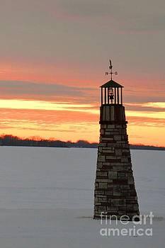 Lighthouse in Winter by Deborah Cummins