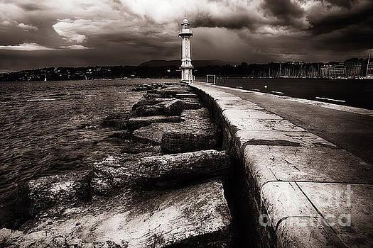 Lighthouse on Lake Geneva  by George Oze