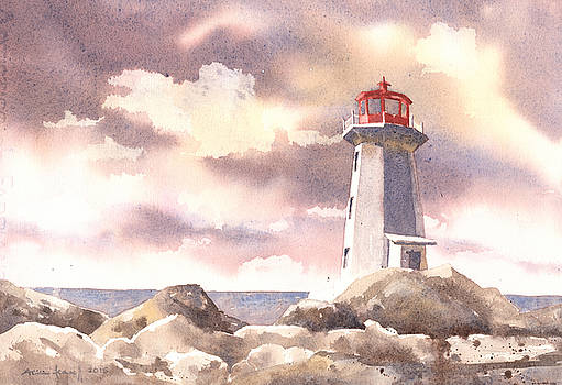 Lighthouse Painting by Alison Fennell