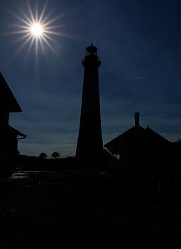 Lighthouse Silhouette by Kim Hojnacki