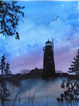 Lighthouse silhouette by Smita Medpalliwar