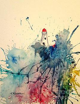 Lighthouse - original sold by Therese Alcorn
