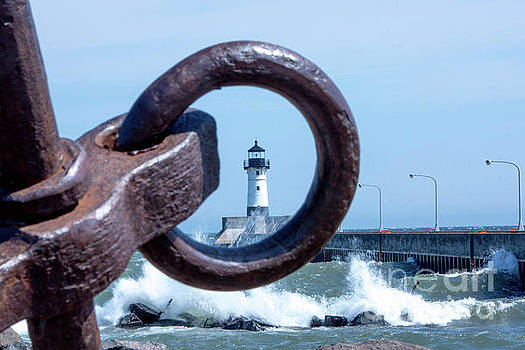 Lighthouse Thru The Hole by Tina Hailey