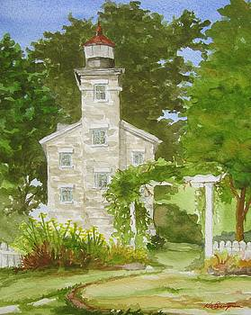 Lighthouse Viewed from the Garden by Kim Lucianovic