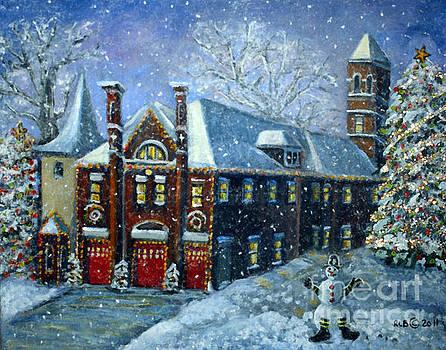 Lighting Up the Christmas Tree by Rita Brown