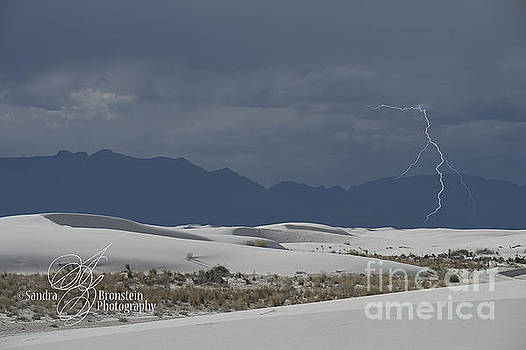 Sandra Bronstein - Lightning at White Sands National Monument