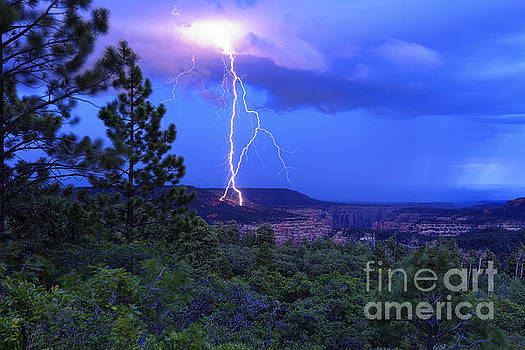 Lightning Strike above Arch Canyon - Utah by Scotts Scapes